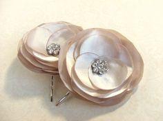 Gold Flower Hair Accessories - Gold Flower Hair Clips For Wedding - Bridal Hair Piece