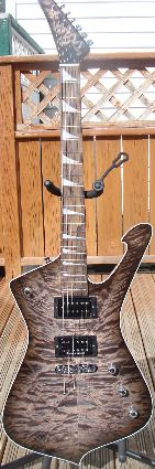 Black Washed Dye Iceman, with the Strat® style neck its probably the coolest guitar i own.