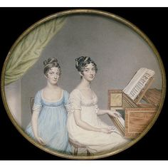 Miniature - Miss Harriet and Miss Elizabeth Binney. British. 1806. V and A.