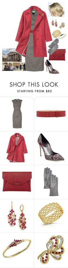 """Queen Rose took part in a meeting on the banking sector"" by hm-queen-rose ❤ liked on Polyvore featuring Antonio Berardi, LIU•JO, Dolce&Gabbana, Givenchy, Bloomingdale's, LE VIAN, Roberto Coin and Effy Jewelry"