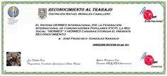 Reconocimientos 2014: José Francisco González Naranjo Distinción Rafael Morales Caballero