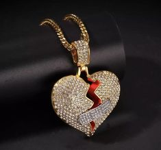 BOSSI BROKEN HEART  ROPE NECKLACE - Default Title / 18K Gold Plated