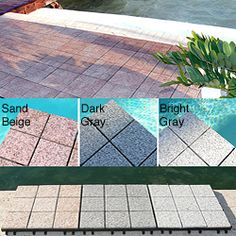 Jointstone Interlocking Granite Decktiles, Box Of 6 Tiles To Cover 6sf. Perfect…