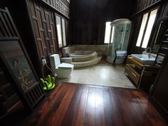 Main Wood Bathroom @ JNAG Thai House Resort