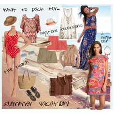 """""""What to pack for summer vacation"""" by stylist Rachel Lefort"""