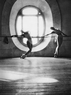 Dancers of the Paris Opera Ballet during rehearsals, c. 1950
