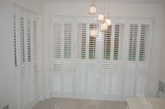 Full height bi-folding shutters to cover your patio/french doors