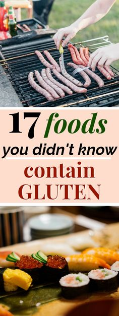 It can be really easy to eat gluten by mistake, because not all foods containing gluten are obvious. These 17 foods that contain gluten may surprise you! Gluten Free Cooking, Gluten Free Desserts, Dairy Free Recipes, Real Food Recipes, Healthy Recipes, Paleo Food, Cookie Recipes, Celiac Recipes, Food Tips