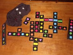 DIY Qwirkle board (Ours is made of wood and Star Wars themed)