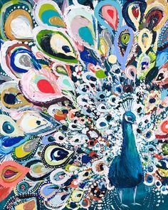 "Unique & Affordable Artwork│Selling Art like Starla Halfmann's ""Peacock Rainbow"" Responsibly Peacock Painting, Peacock Art, Peacock Blue, Painting Inspiration, Art Inspo, Carpe Koi, Selling Art, Bird Art, Amazing Art"