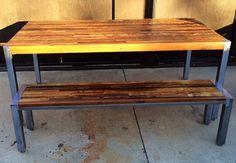 Custom Outdoor/ Indoor Exposed Edge Rustic Modern Parsons