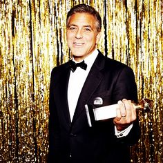 George Clooney -- Cecil B. DeMille Award recipient #goldenglobes (Photo by @ellenvonunwerth)  IMAGE: @GOLDENGLOBES ON INSTAGRAM