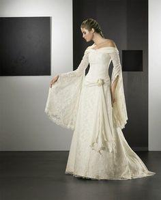 Sharp commended Wedding inspirations visit their website Best Wedding Dresses, Bridal Dresses, Wedding Gowns, Bridesmaid Dresses, Boho Wedding, Dream Wedding, Celtic Dress, Medieval Dress, Medieval Wedding Dresses
