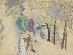 Pierre Bonnard LA ROUTE, PAYSAGE AU CANNET