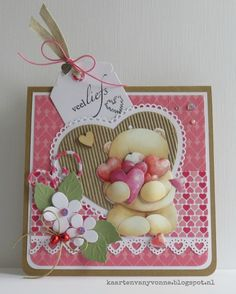 Vandaag is het Valentijnsdag, ik doe er verder niet aan maar ik vind het dan wel leuk om een valentijnskaart te maken. Deze is voor mijn ...
