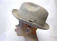 Mens Trilby Adam Gray Fedora Hat by sweetie2sweetie on Etsy, $25.99