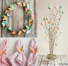 Butterfly Party Ideas and Inspiration Butterfly Party Decorations, Butterfly Garden Party, Butterfly Birthday Party, Butterfly Kids, Butterfly Baby Shower, Garden Birthday, Butterfly Crafts, 2nd Birthday Parties, Girl Birthday