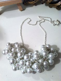 Beautiful and classy <3 Pearl Cluster Necklace by sweetiejayne on Etsy, $20.00