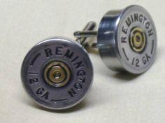Gift ideas for the boyfriend: Shotgun Shell Cufflinks Remington 12 Gauge