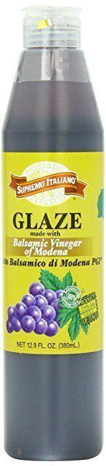 Original Glaze Supremo Italiano Balsamic Vinegar Of Modena 12.9 Fl.Oz Bottle