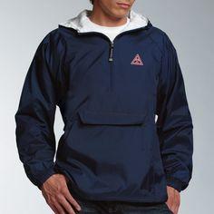 Triangle Navy Classic 1/4 Zip Rain Jacket