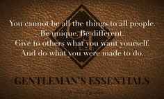 Gentleman Guidelines