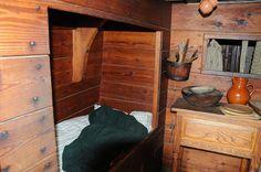 Jamestown - below deck on a ship