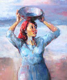 'Red Inside' (1mx 1.2m) Oil Painting by Weyers du Toit 2014 www..weyersdutoit.co.za