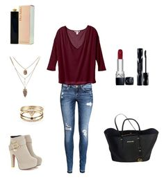 """""""Untitled #255"""" by fashiongirl-8808 ❤ liked on Polyvore featuring Accessorize, MICHAEL Michael Kors, H&M, Body by Victoria, Christian Dior and Shiseido"""