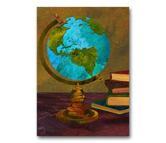 Hey, I found this really awesome Etsy listing at https://www.etsy.com/listing/154744554/vintage-world-globe-graduation-card-or