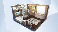 Nombre: relaxing bath.  ¡Mira esta habitación en la galería de Los Sims 4! - #sims4 #modern #bathroom #cool #beautiful #relax