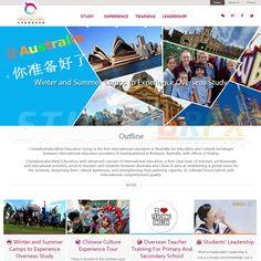 English version of China-Australia Mind Education Group website Visit www.StudioGrfx.com to view my portfolio #education #study