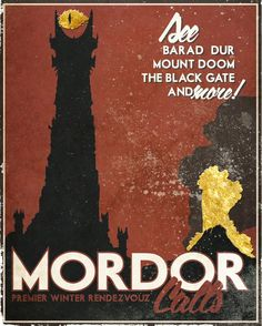 Middle Earth Travel Posters by Allen Brockbank - Mordor
