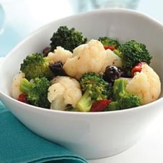 Broccoli & Cauliflower Salad with Lemon dressing