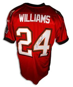 Autographed Cadillac Williams Tampa Bay Buccanneers Red Reebok Authentic Jersey
