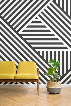 Dazzle Camouflage Wallpaper, Home Wallpaper, Geometric Wall Paint, Geometric Wallpaper Murals, Geometric Decor, Home Wallpaper, Geometric Shapes, Wallpaper Designs, Trendy Wallpaper, Geometric Furniture, Geometric Monochrome Wallpaper
