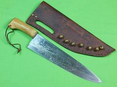 Vintage Custom Hand Made Stag Fighting Knife & Sheath  | eBay