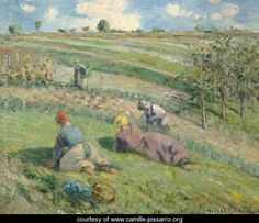 Sarcleurs Dans Les Champs, Pontoise - Camille Pissarro - www.camille-pissarro.org