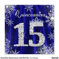 Royal Blue and Gold Quinceanera Invitations Pinterest