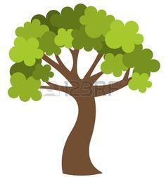Printemps arbre vert isol illustration Banque d'images