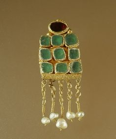 Earrings with Cabochons and Pendants,sixth century A.D.,provenance…