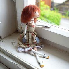 Doll Vendelína, art, handmade Dolls, Handmade, Art, Baby Dolls, Art Background, Hand Made, Puppet, Kunst, Doll