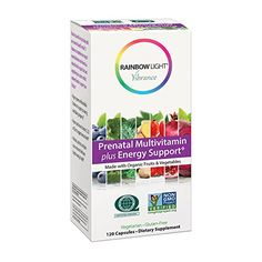 Rainbow Light Vibrance Prenatal Multivitamin Plus Energy Support Made with Organic Fruits  Vegetables 120 Count * Check this awesome product by going to the affiliate link Amazon.com at the image.