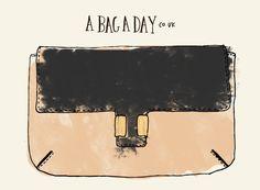 Chloé Amelia Leather Clutch   bag illustration - abagaday.co.uk