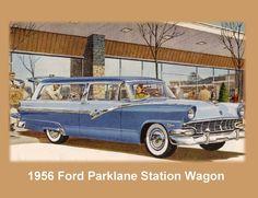 1956 Ford Parklane Station Wagon Auto Refrigerator / Tool Box  Magnet