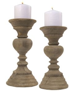 "Contemporary Natural Wood Pillar Candle Holder, Choice of 9 or 10.75"" Tall #SimplyAbundant #CandleHolder"
