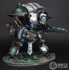 The Internet's largest gallery of painted miniatures, with a large repository of how-to articles on miniature painting Warhammer 40k Tabletop, Warhammer 40k Figures, Warhammer Models, Warhammer 40k Miniatures, Warhammer 40000, Dark Angels 40k, Imperial Knight, Fantasy Miniatures, Mini Paintings