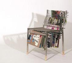The Magazine Rack chair. Magazine storage meets efficiency.