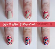 Chalkboard Nails: Sally Hansen x Rodarte Tie Dye and Floral Mix (+ Tutorial) #nailart #tutorial #iheartnailart @sallyhansen