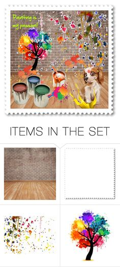 """""""Painting is my passion!"""" by callmerose ❤ liked on Polyvore featuring art"""